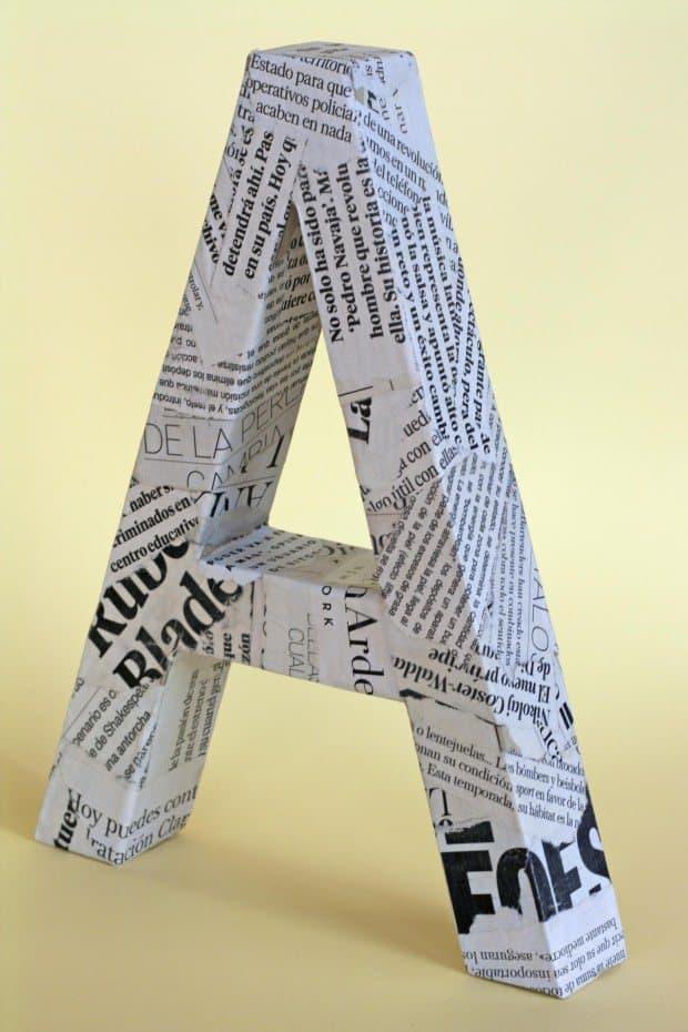 letras con cartón