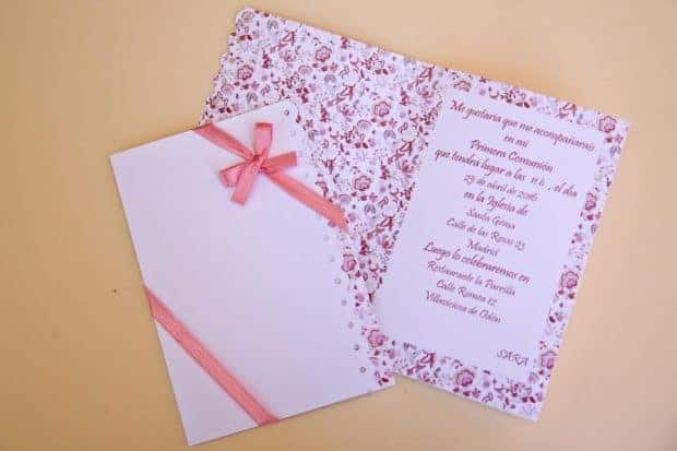 Invitación para primera comunión niña
